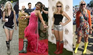 Celebrities in Boots at Festivals